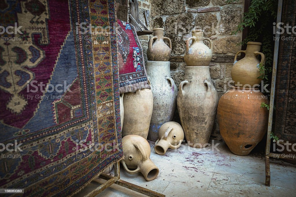 Antique shop in Turkey royalty-free stock photo