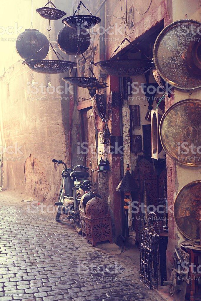 Antique Shop, Marrakesh, Morocco stock photo