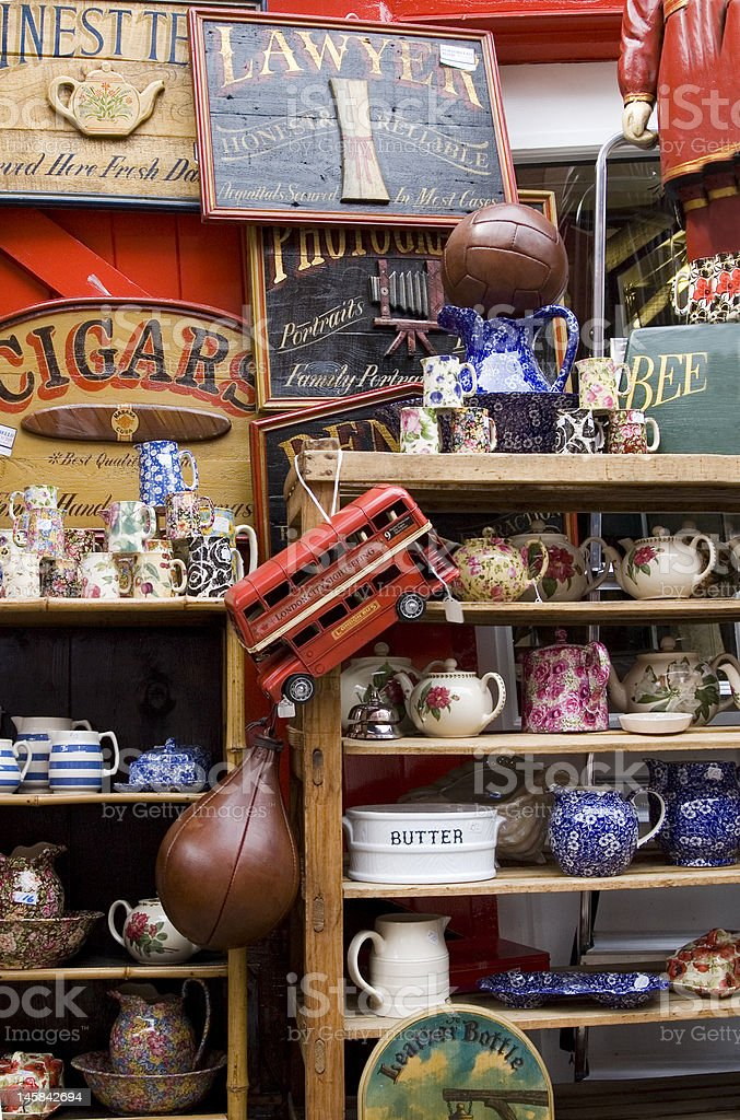 Antique shop stock photo