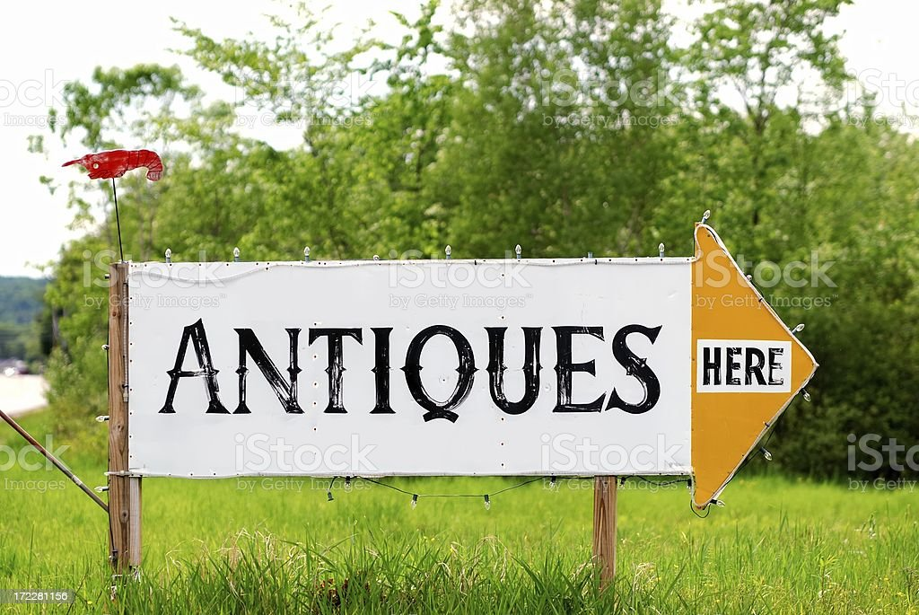 antique sign stock photo