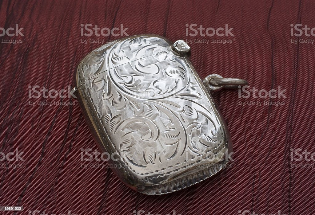 Antique Silver Box royalty-free stock photo
