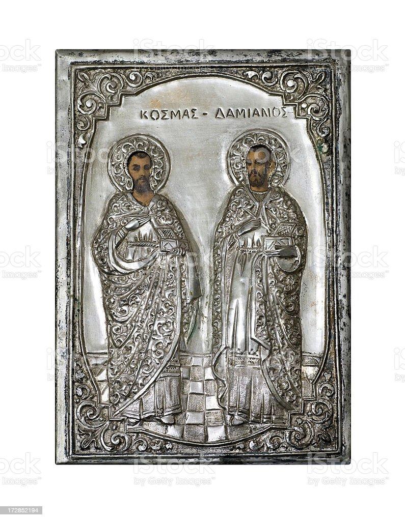 Antique Silver Icon royalty-free stock photo