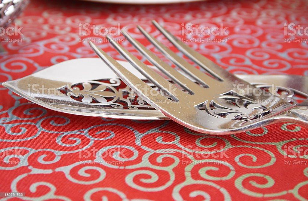 Antique silverware royalty-free stock photo