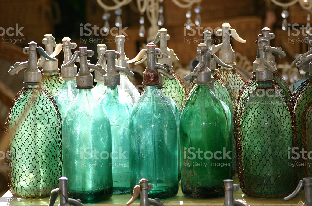 Antique siphons royalty-free stock photo