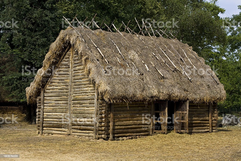 Antique  Slavs cabin royalty-free stock photo