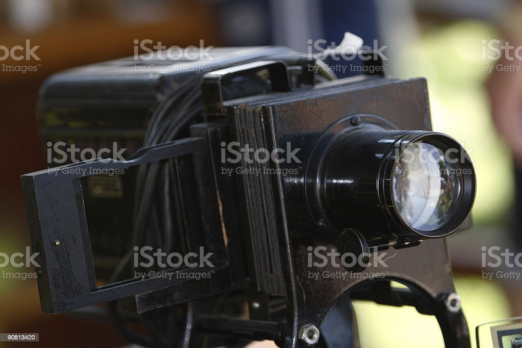 Antique Slide Projector stock photo