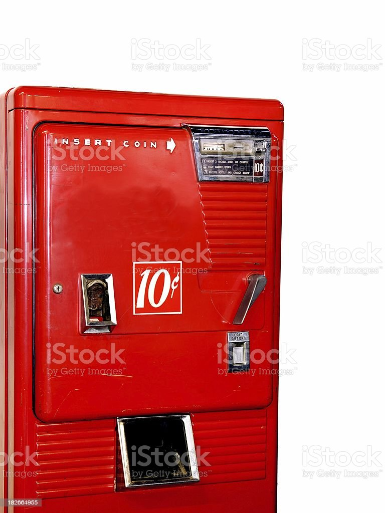 antique soda machine royalty-free stock photo