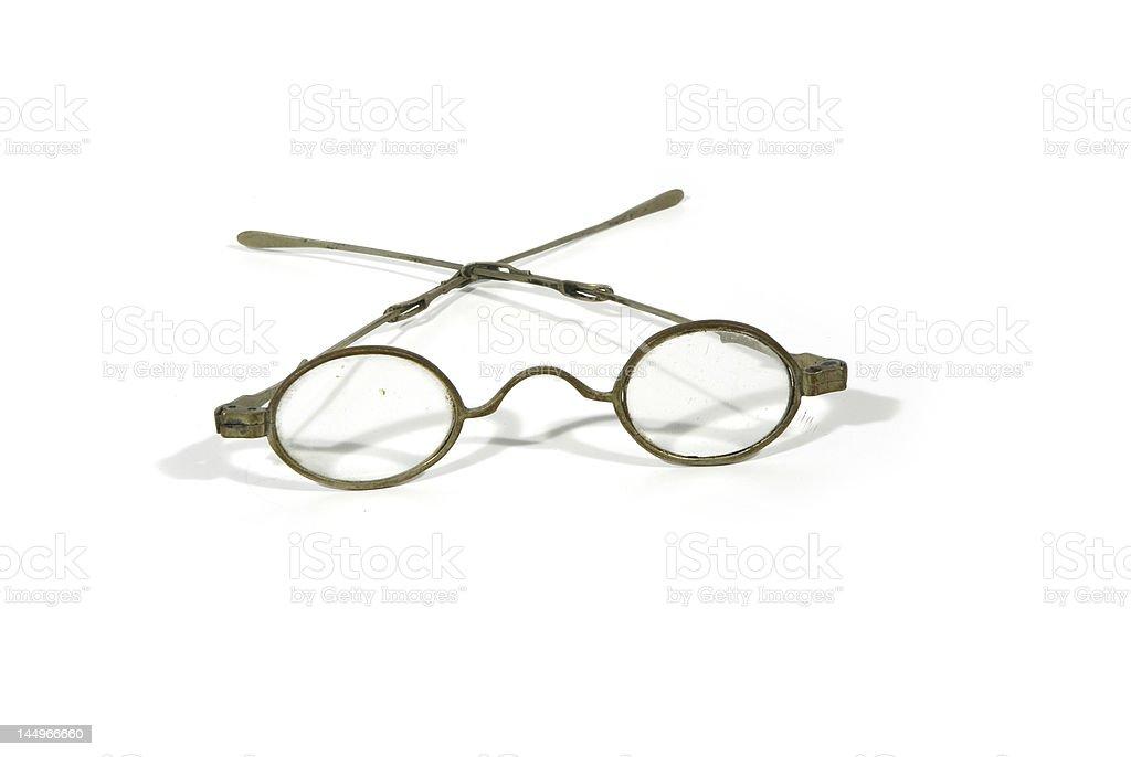 Antique spectacles stock photo