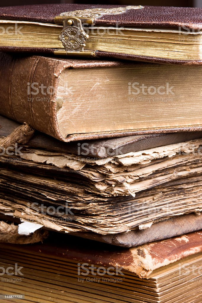 Antique stack of books royalty-free stock photo