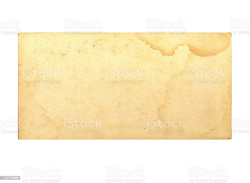 Antique Stained Paper - Grunge royalty-free stock photo