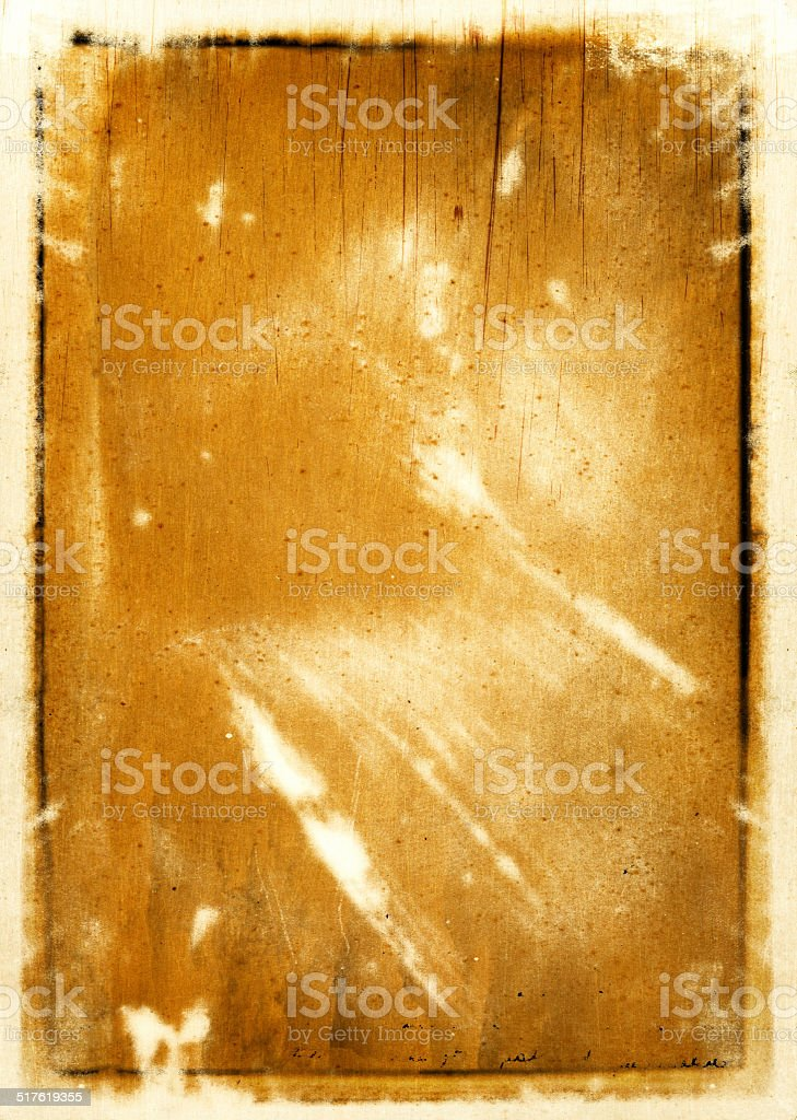 Antique stained paper stock photo