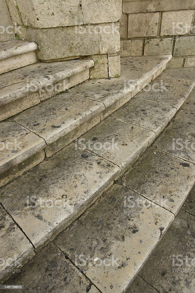 Antique stairs stock photo