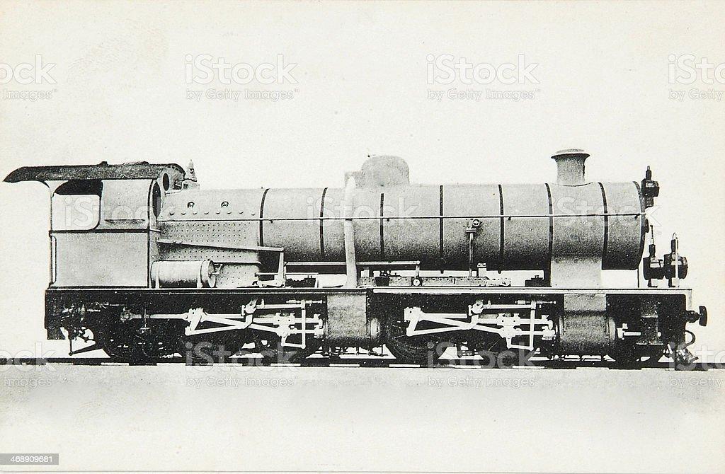 Antique steam locomotive royalty-free stock photo