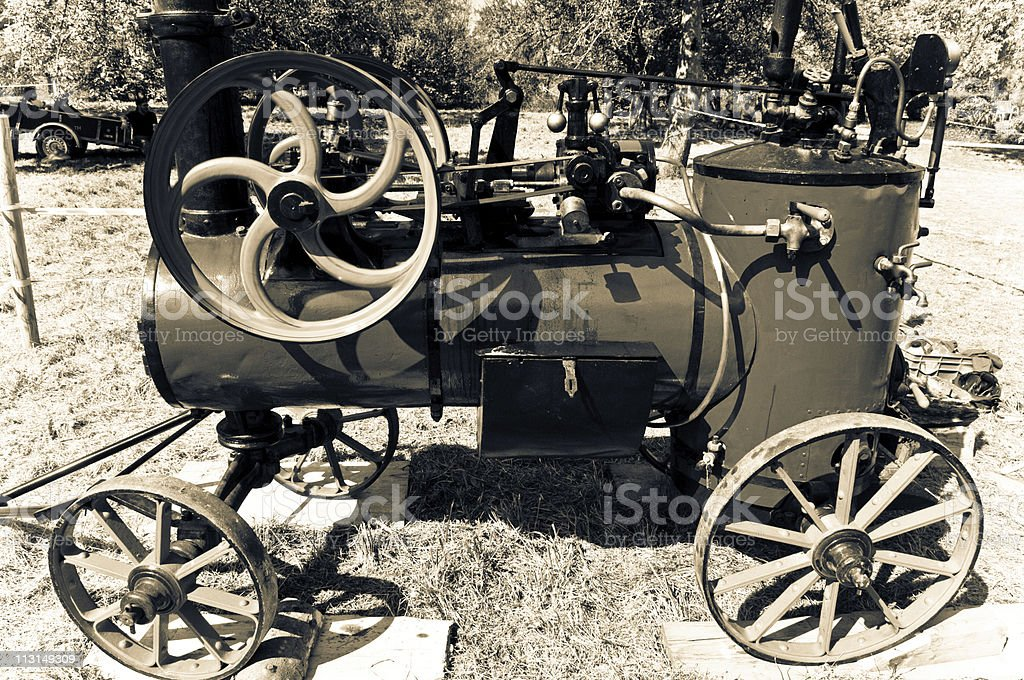 Antique Steam Machine royalty-free stock photo