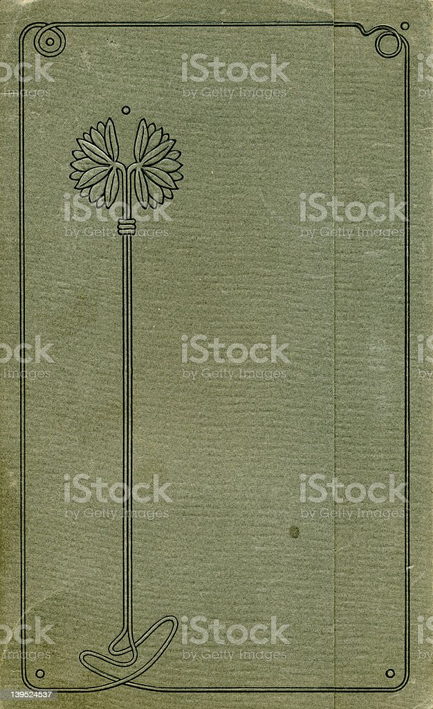 Antique stem-flower album cover royalty-free stock photo