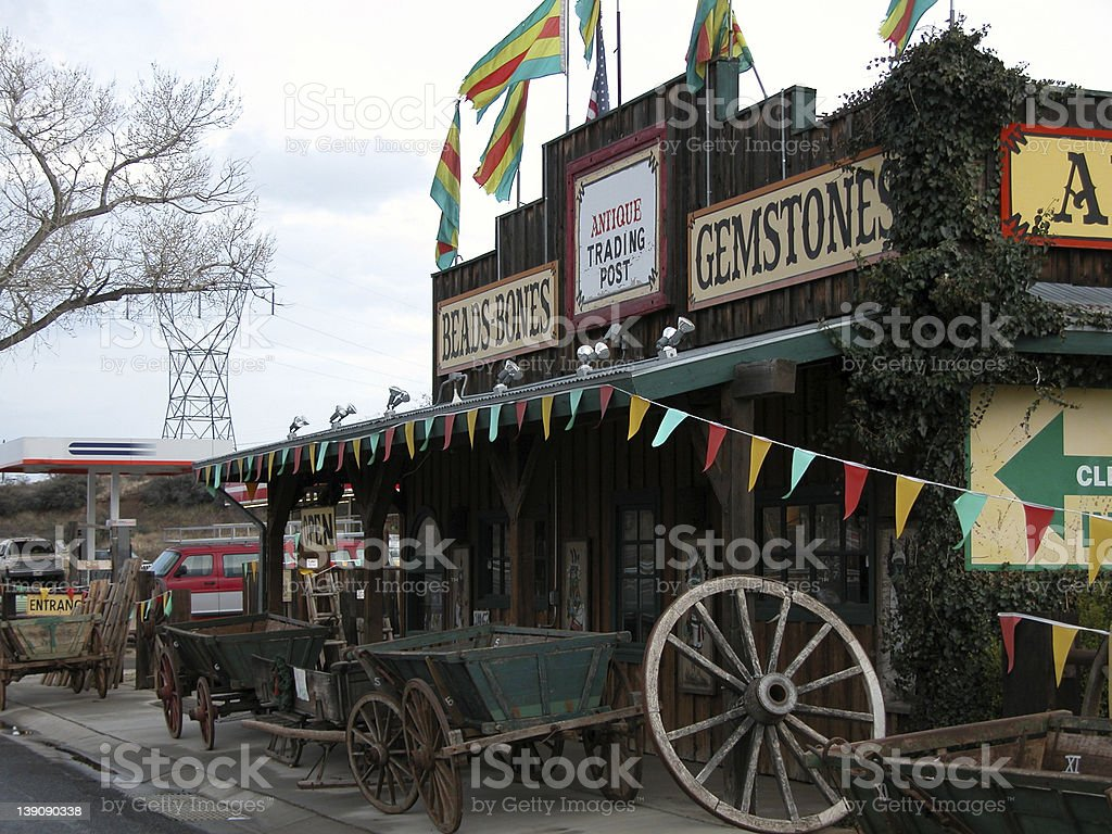 Antique Store in Arizona stock photo