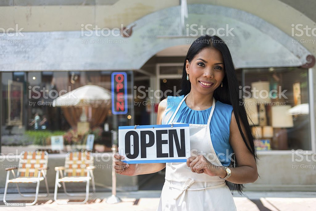 Antique Store Open royalty-free stock photo