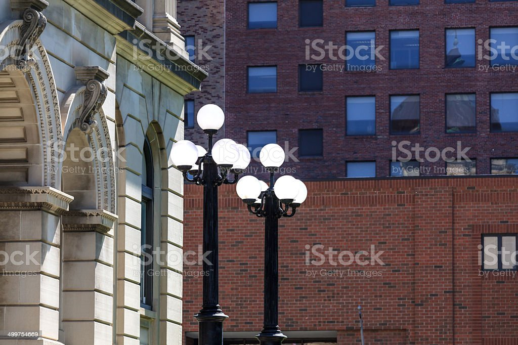 Antique Street Lights royalty-free stock photo