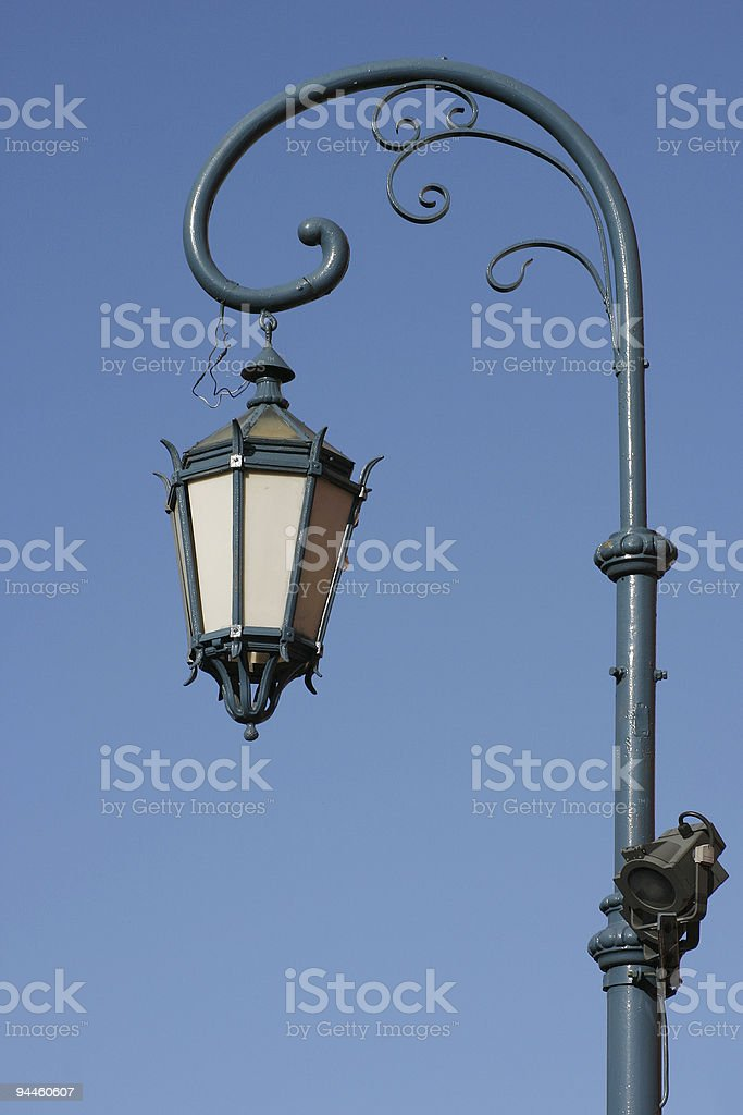 Antique street-lamp in Buenos Aires Argentina royalty-free stock photo