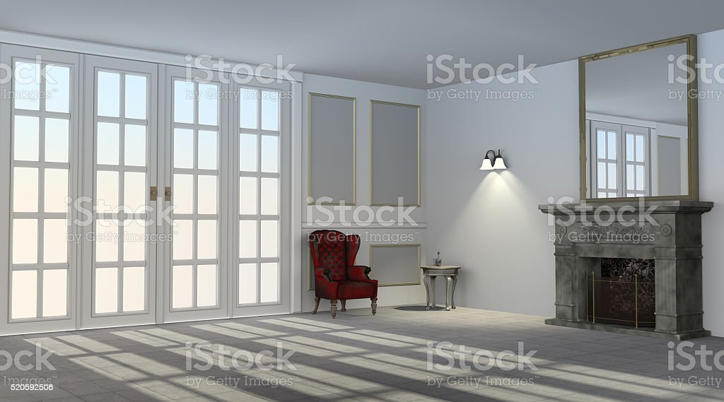 Antique Style Interior stock photo