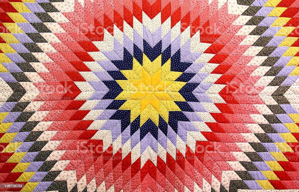 antique sunburst quilt royalty-free stock photo