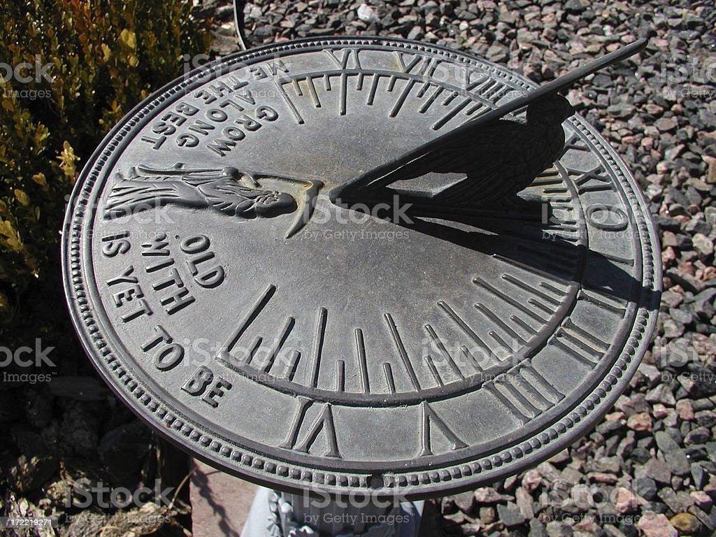 Antique Sundial royalty-free stock photo