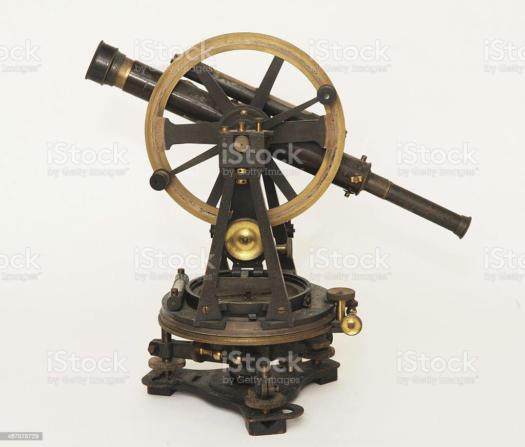 Antique Surveying Instrument stock photo