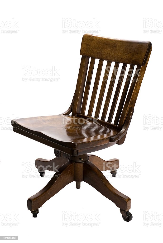Antique Swivel Office Chair royalty-free stock photo