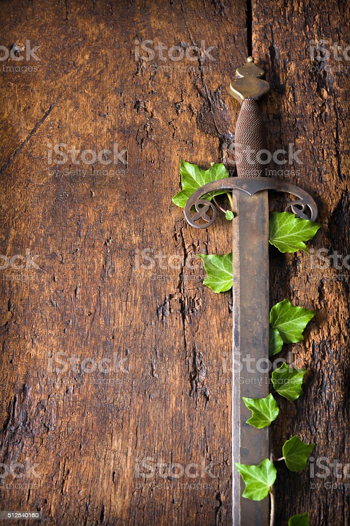 Antique sword stock photo
