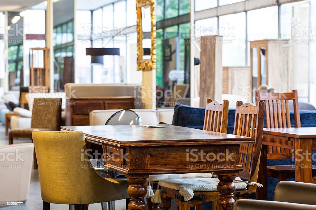 Antique table stock photo