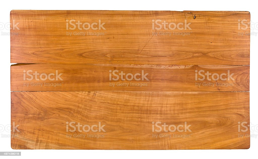 Antique tabletop made of cherry wood stock photo