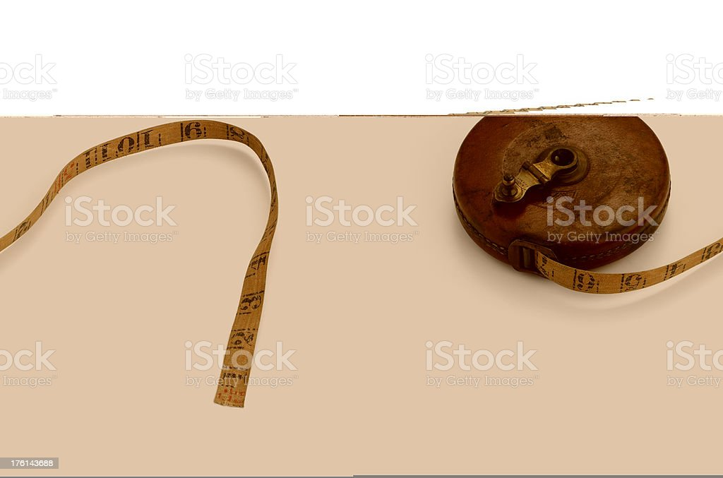 antique tape measure royalty-free stock photo