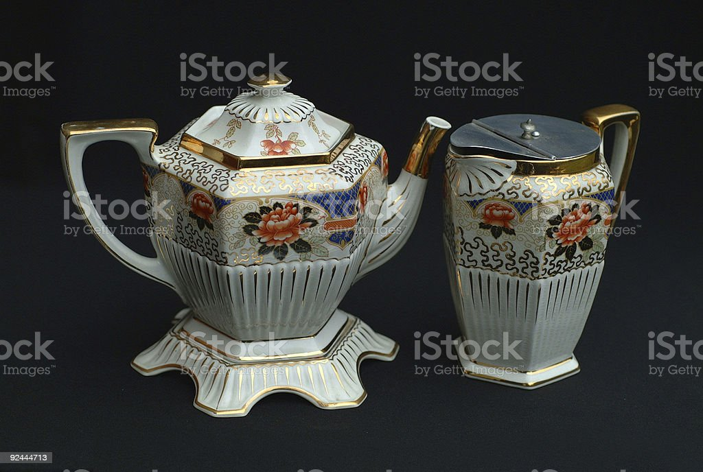 Antique Tea & Coffe Pot stock photo