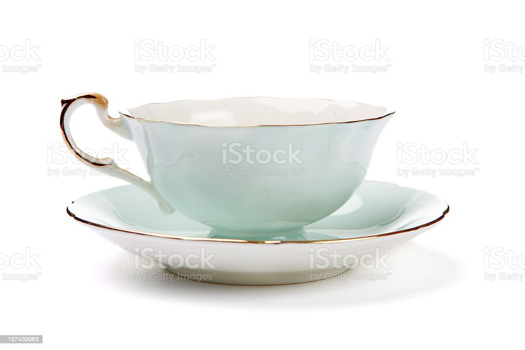 Antique Tea Cup stock photo