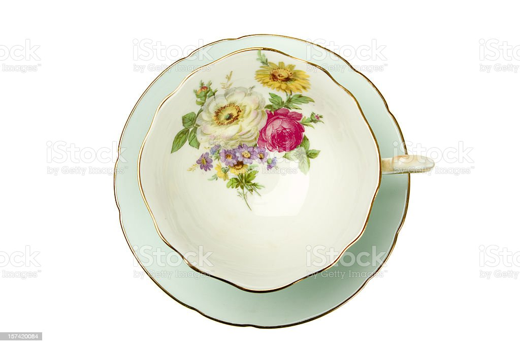 Antique Tea Cup royalty-free stock photo