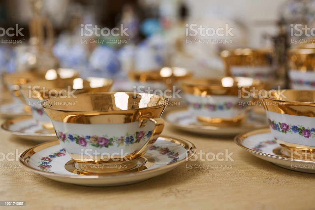 Antique Tea or Coffee sets royalty-free stock photo