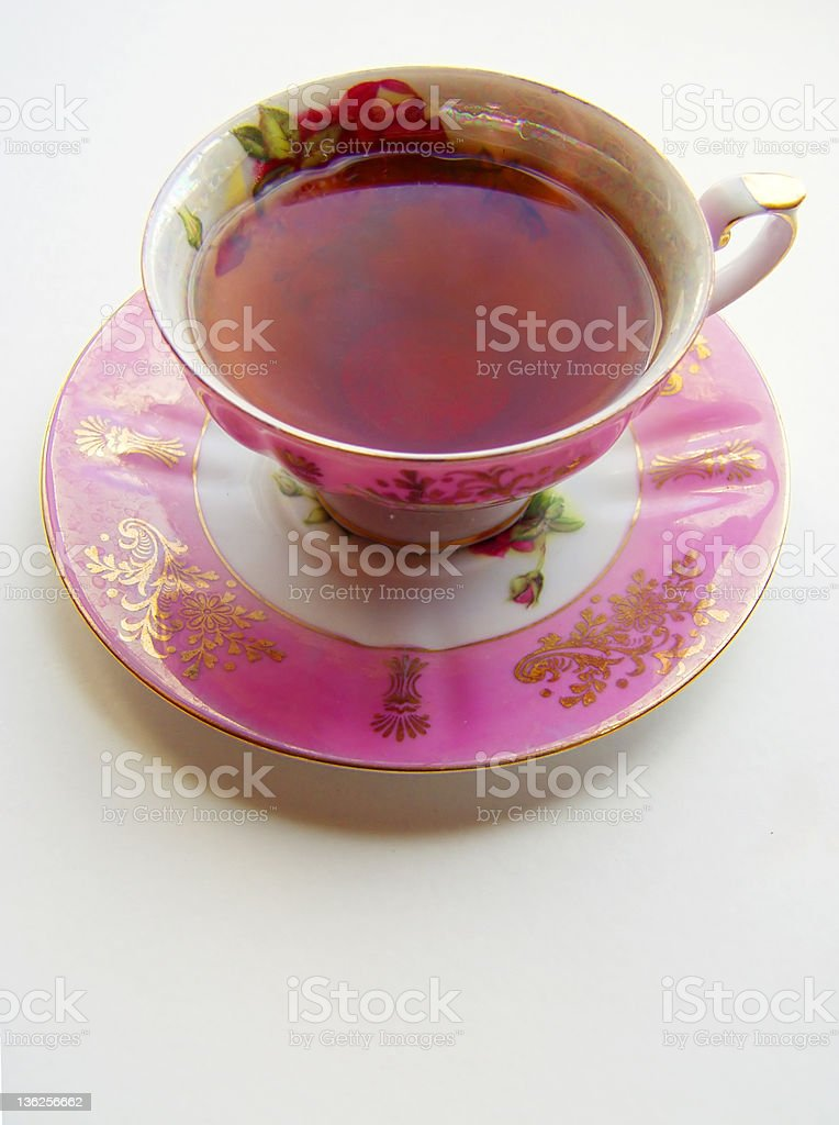 antique teacup royalty-free stock photo