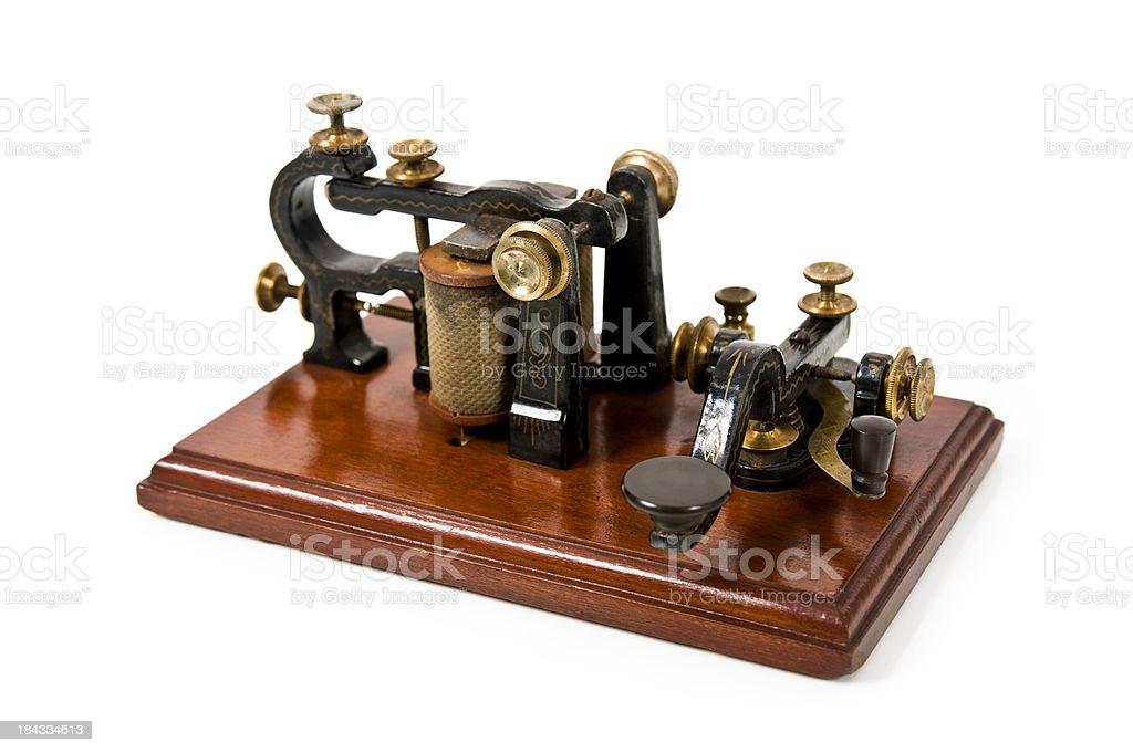 Antique Telegraph Machine stock photo