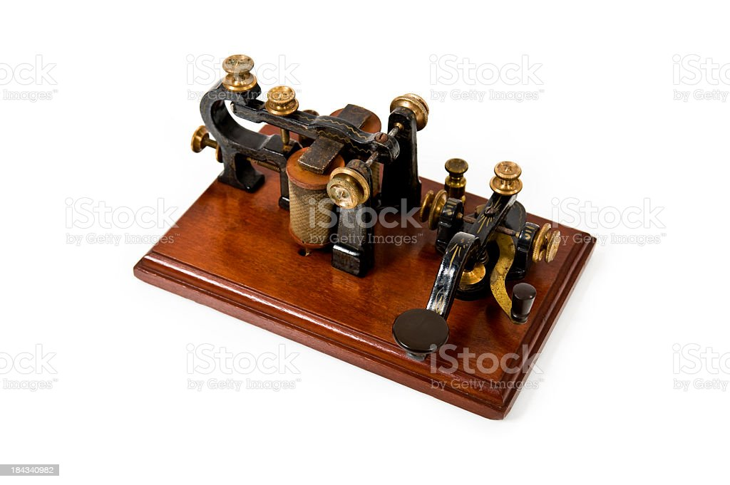 Antique Telegraph Machine royalty-free stock photo