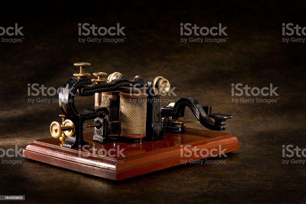 Antique Telegraph Machine royalty-free stock photo