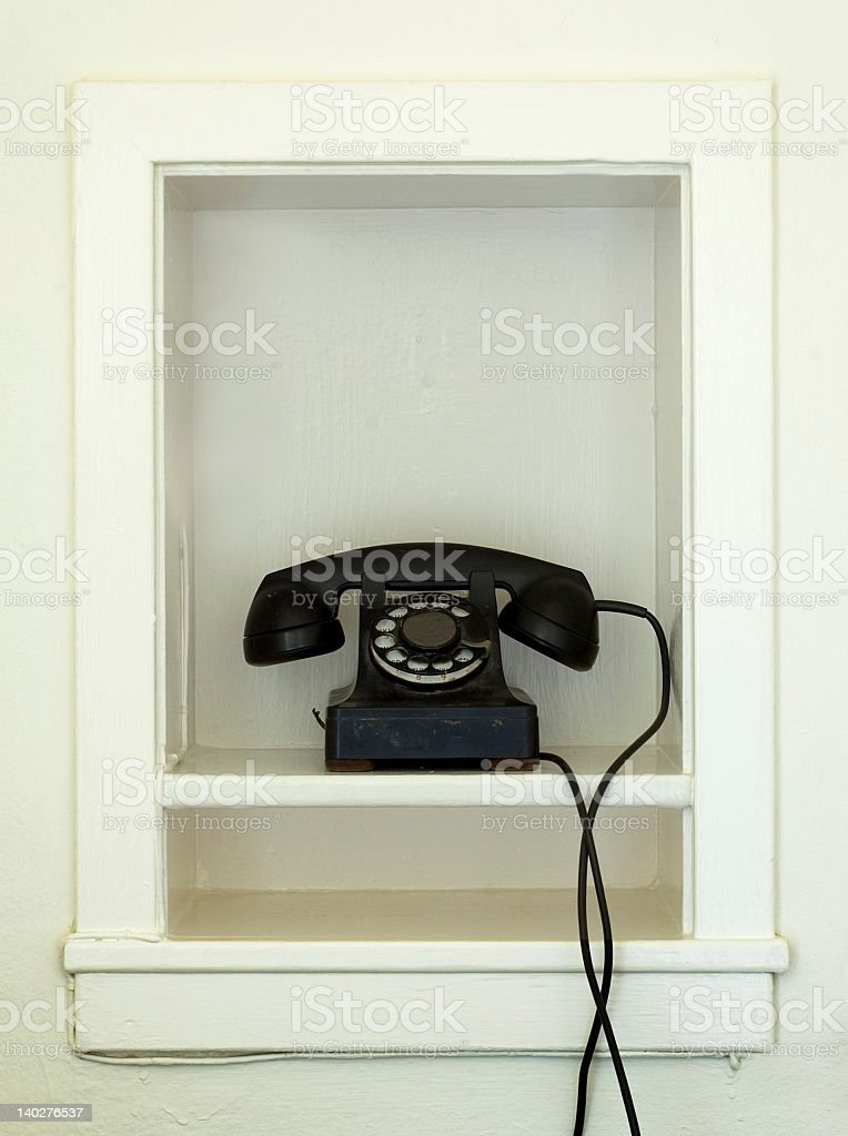 Antique telephone royalty-free stock photo