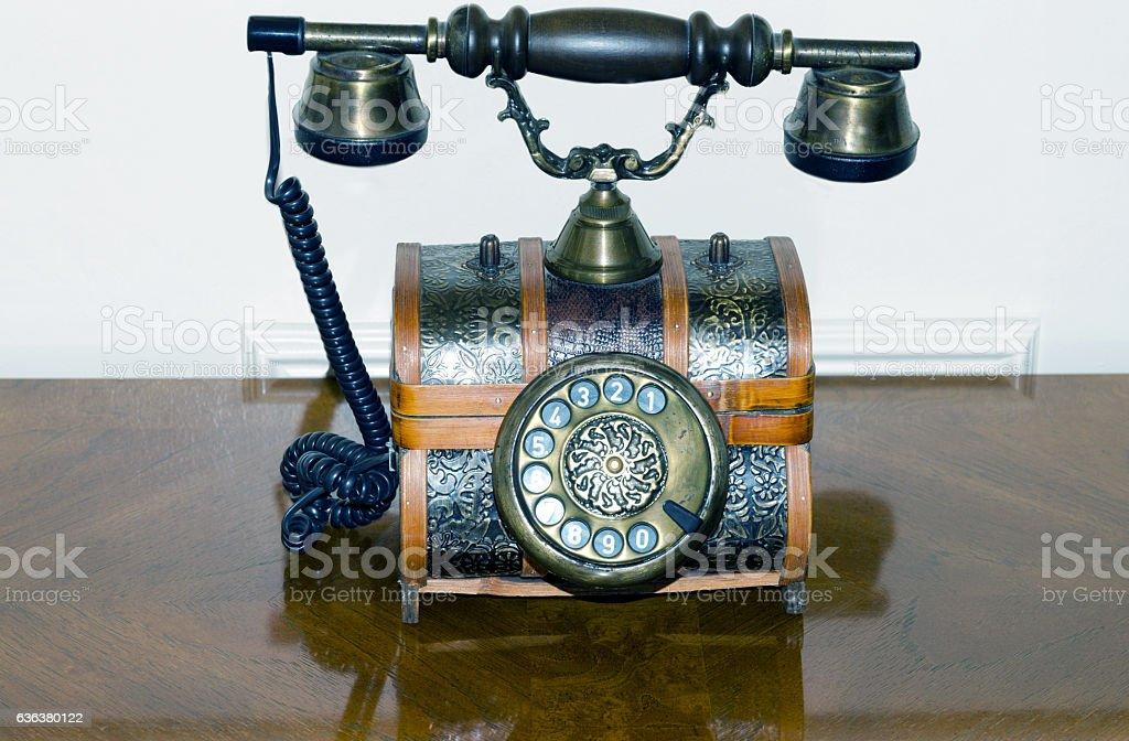 Antique Telephone stock photo