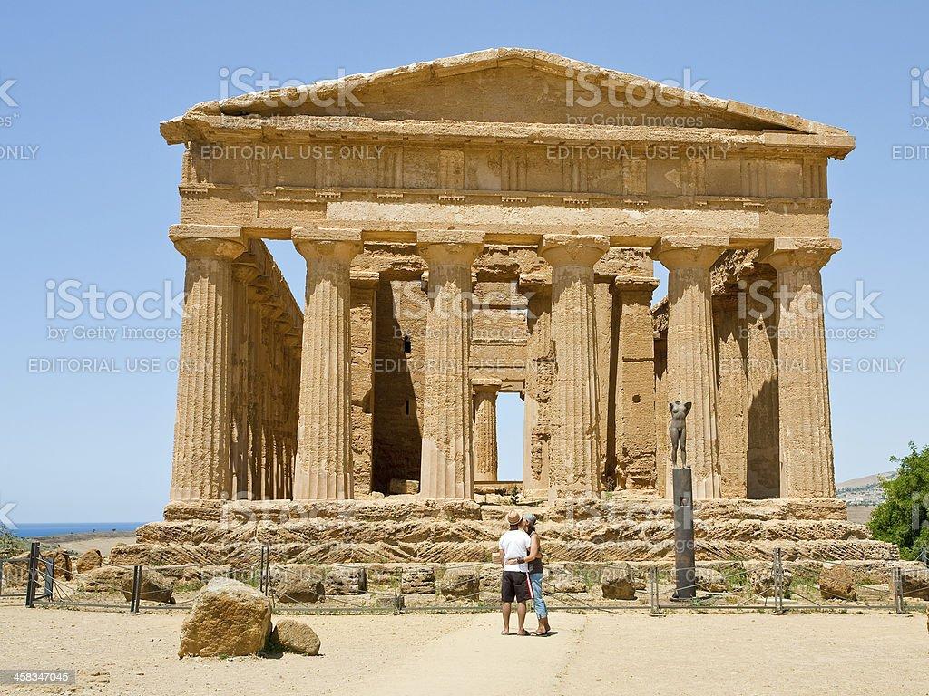antique Temple of Concordia in Agrigento stock photo