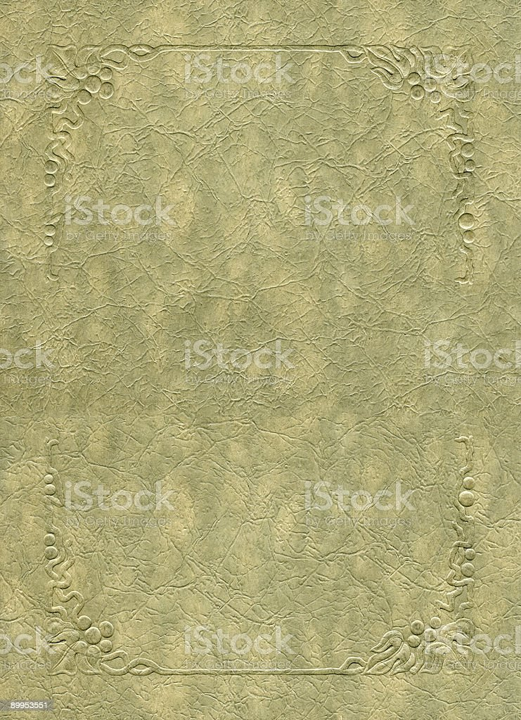 Antique texture with embossed frame elements. royalty-free stock photo