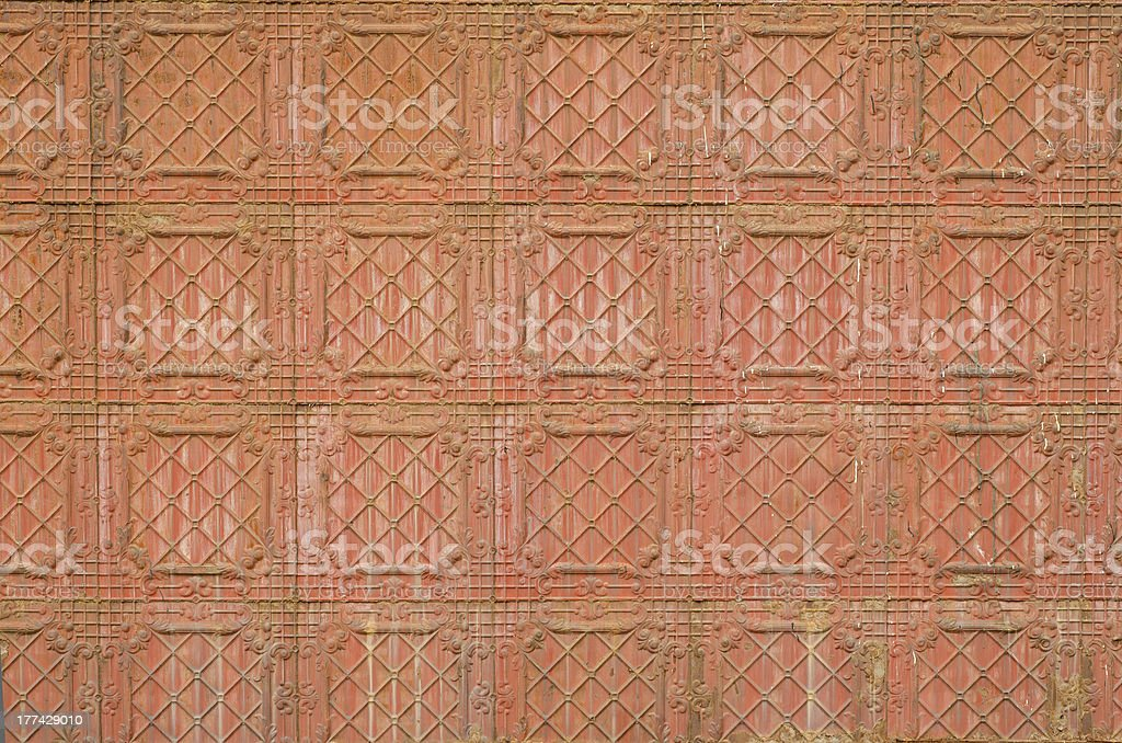 Antique tin wall background royalty-free stock photo