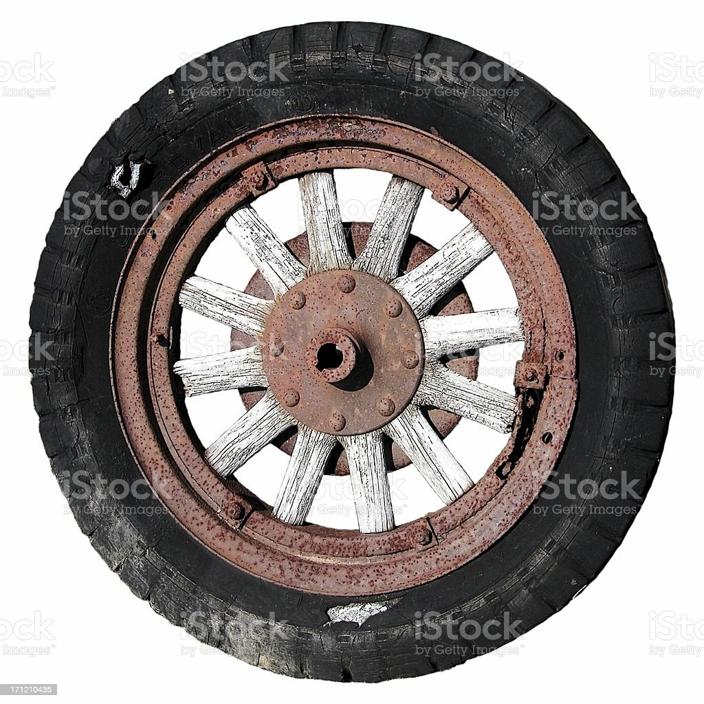Antique Tire royalty-free stock photo