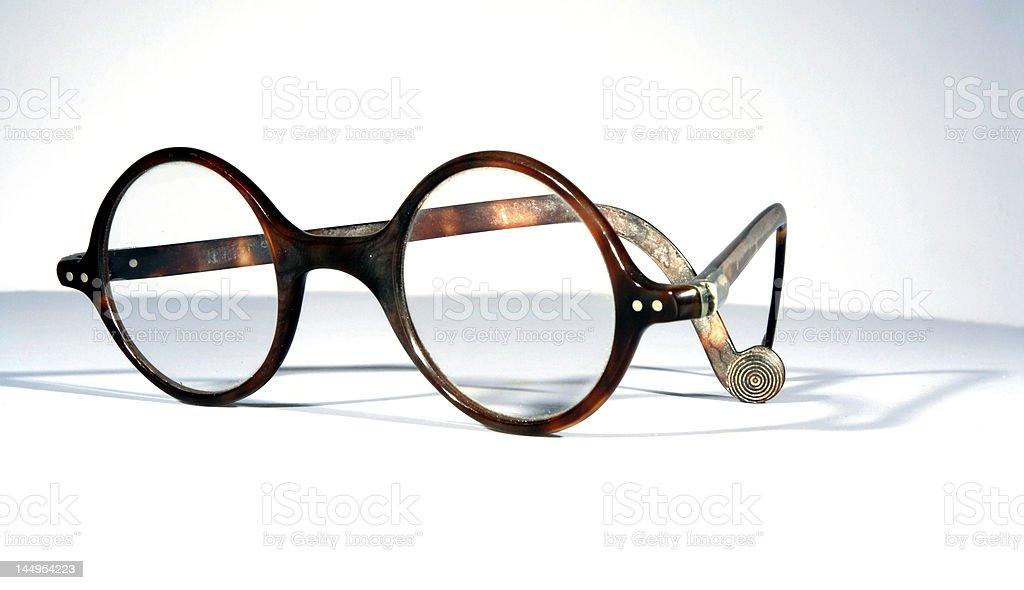 Antique tortoiseshell spectacles stock photo
