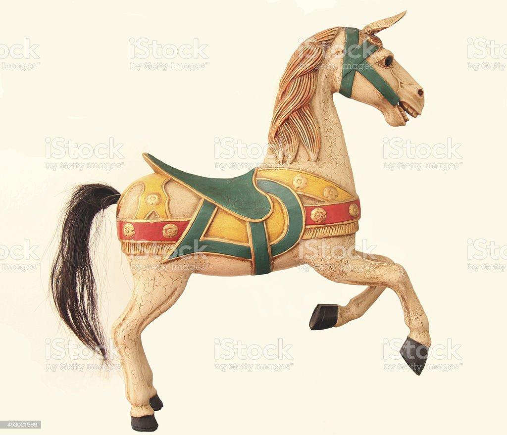 Antique Toy Bavarian Carousel Horse stock photo