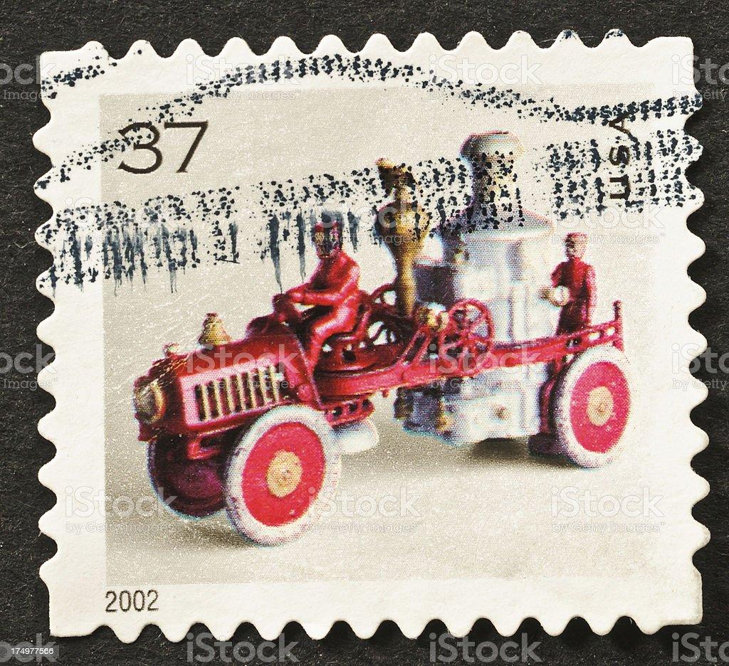 Antique Toy Stamp stock photo