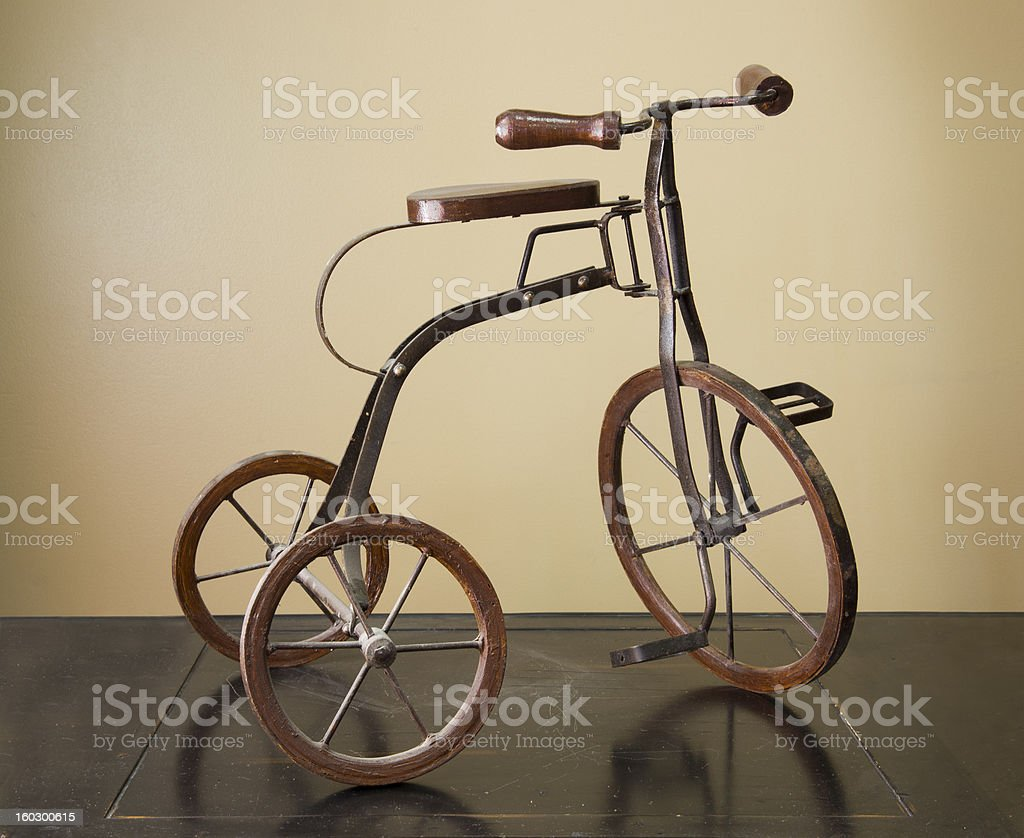 Antique Toy Tricycle stock photo